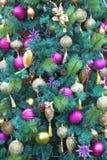 De ballons en de sneeuwvlokken Stock Fotografie