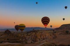 De ballons van Cappadocia Royalty-vrije Stock Afbeelding