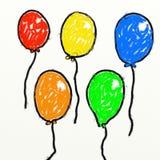 De ballons van Childs Stock Afbeeldingen