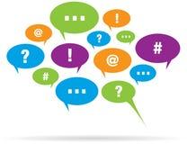 De Ballons van de communicatie Bel van de Bespreking Stock Afbeeldingen