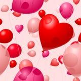 De Ballons van de Dag van valentijnskaarten Royalty-vrije Stock Foto