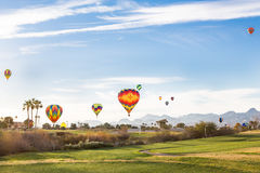De Ballons van de golfcursus Royalty-vrije Stock Foto