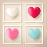 De ballons van de hartvorm met kaders stock illustratie