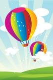 De Ballons van de hete Lucht Royalty-vrije Stock Afbeelding