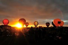De Ballons van de hete Lucht Stock Afbeelding