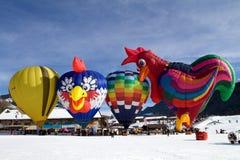 De Ballons van de hete Lucht - chateau-D'Oex 2010 Royalty-vrije Stock Afbeelding