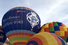 De Ballons van de hete Lucht - chateau-D'Oex 2010 Stock Foto's