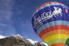 De Ballons van de hete Lucht - chateau-D'Oex 2010 Royalty-vrije Stock Foto's