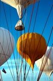 De Ballons van de Hete Lucht van het gas Royalty-vrije Stock Afbeelding
