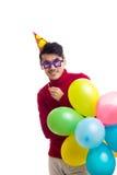 De ballons van de jonge mensenholding Royalty-vrije Stock Foto