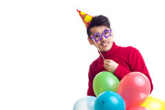 De ballons van de jonge mensenholding Stock Afbeeldingen