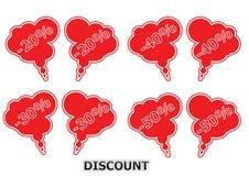 De Ballons van de korting Royalty-vrije Stock Foto's