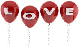 De ballons van de liefde Stock Foto