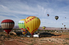 De Ballons van de Lucht van Arizona stock afbeeldingen