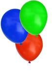 De ballons van de partij die op wit worden geïsoleerdn Stock Fotografie