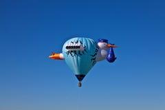 De ballons van de Storke hete lucht Stock Foto