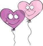 De ballons van de valentijnskaart Stock Afbeelding