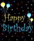 De ballons van de verjaardag royalty-vrije illustratie