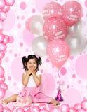 De ballons van de verjaardag stock foto