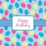 De ballons van de verjaardag het verpakken Royalty-vrije Stock Foto's