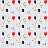 De Ballons van de verjaardagspartij, Naadloos Vectorpatroon Royalty-vrije Stock Afbeelding