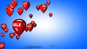 De ballons van de verkoop, 3D illustratie Royalty-vrije Stock Foto