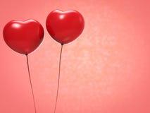 De Ballons van de Vorm van het hart Stock Foto