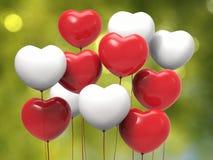 De Ballons van de Vorm van het hart Royalty-vrije Stock Afbeeldingen