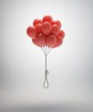 De ballons van de zelfmoord Stock Foto's