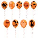 De ballons van Halloween Stock Foto