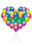De ballons van het hart Royalty-vrije Stock Foto's