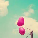 De Ballons van het hart Stock Afbeeldingen