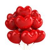 De ballons van het hart Stock Foto's
