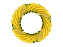 De banaan van de cirkel Stock Foto's