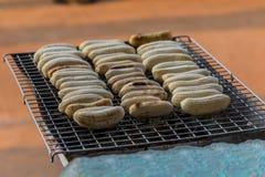 De Banaan van de grill Stock Afbeelding