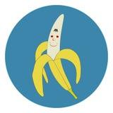 De banaan van het beeldverhaal Royalty-vrije Stock Afbeelding
