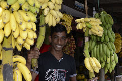 De Banaanverkoper van Srilankan Royalty-vrije Stock Afbeeldingen