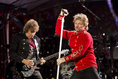 De band Bon Jovi voert een overleg uit royalty-vrije stock foto