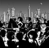 De band die van de jazzmuziek in New York presteren stock illustratie