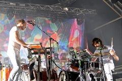 De band levende prestaties van de kariboe elektronische muziek bij Primavera-Geluid 2015 Royalty-vrije Stock Afbeeldingen