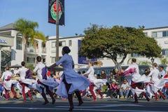 De band toont van de buitengewone Toernooien van beroemde Rose Parade Royalty-vrije Stock Foto