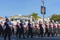 De band toont van de buitengewone Toernooien van beroemde Rose Parade Stock Foto's