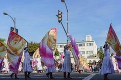 De band toont van de buitengewone Toernooien van beroemde Rose Parade Royalty-vrije Stock Foto's