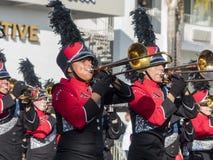 De band toont van de buitengewone Toernooien van beroemde Rose Parade Royalty-vrije Stock Fotografie
