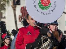 De band toont van de buitengewone Toernooien van beroemde Rose Parade Stock Afbeelding