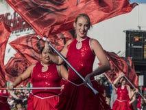 De band toont van de buitengewone Toernooien van beroemde Rose Parade Stock Fotografie