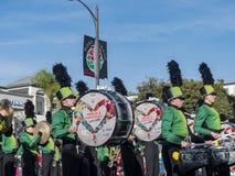 De band toont van de buitengewone Toernooien van beroemde Rose Parade Stock Foto