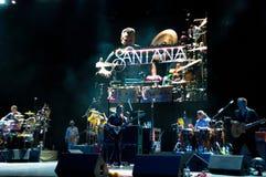 De band van Carlos Santana's Stock Afbeelding