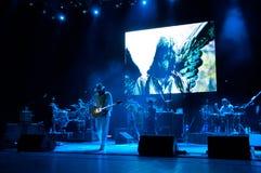 De band van Carlos Santana's Stock Foto's