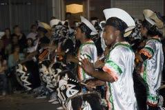 De band van Carnaval in Montevideo 2008 Royalty-vrije Stock Afbeelding
